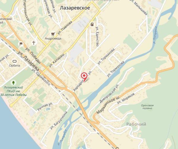 Схема Аквапарк Наутилус пос. Лазаревское, Краснодарский край
