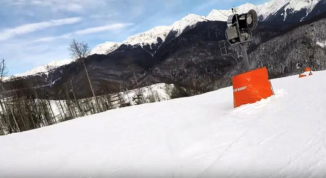 Роза Хутор - снега - генератор