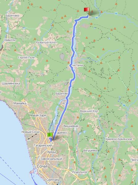 Маршрут № 3: Ореховский водопад